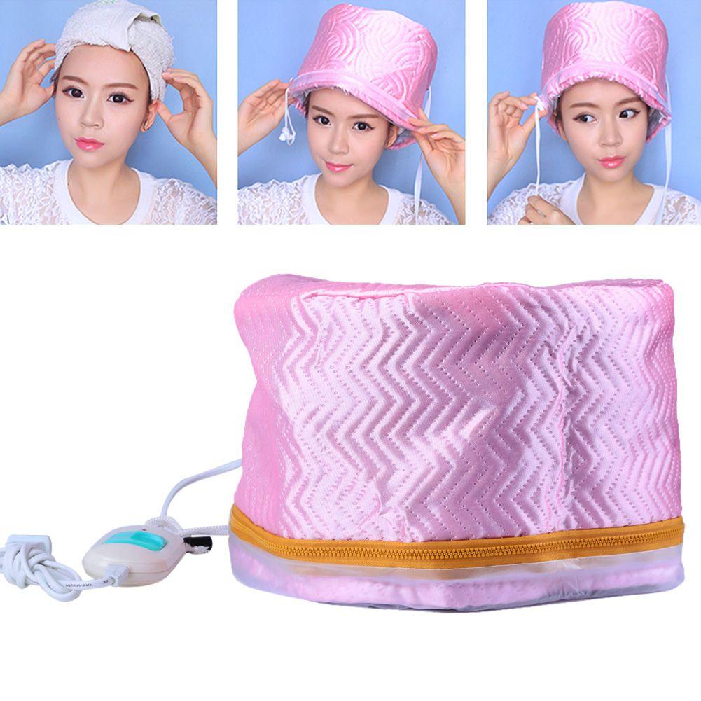 1pc cheveux vapeur casquette sèche-cheveux électrique chauffage casquette traitement thermique chapeau beauté SPA nourrissant cheveux style soins US EU Plug