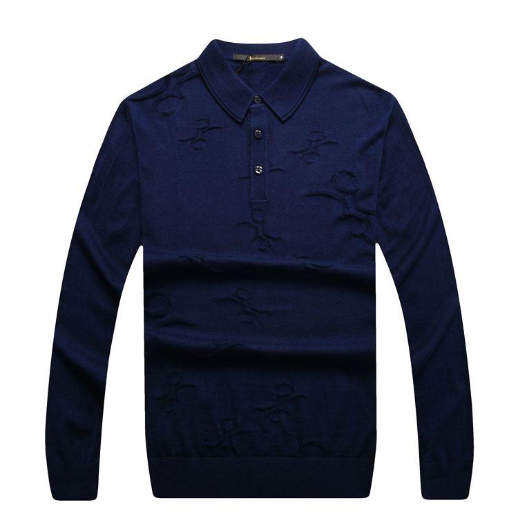 El multimillonario de Alta Costura Italiana de los hombres suéter de 2016 lanzamiento ocasional cómodo excelente tela guapo ropa envío gratis