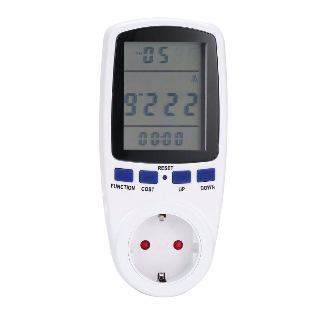 ЕС Plug цифровой вольт Напряжение ваттметр Мощность анализатор электронная Мощность энергии метр автоматический кВтч Мощность переключател...