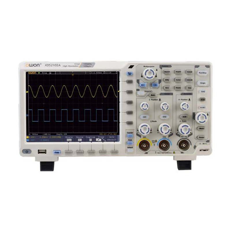OWON Hohe Genauigkeit Auflösung Oszilloskop XDS2102A 100 MHz 12 bits 2 + (1) Kanäle 1GS/S leistung Digital-oszilloskop