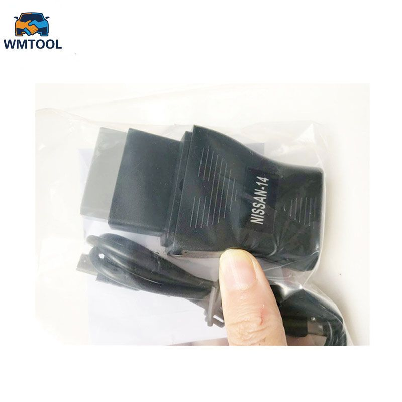 New For Nissan USB Diagnostic Interface OBD2 OBD Cable NS CO-N--SULT USB 14 Pin Interface For OBD Adapter
