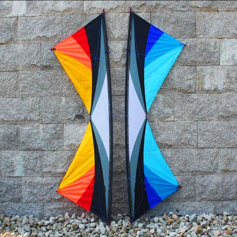 free shipping high quality 2.4m Colorful butterfly quad line stunt kites with handle line kite bar paragliding can am hcxkites