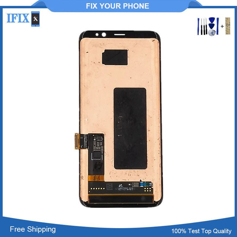 Super Amoled for Samsung Galaxy S8 LCD Display Touch Screen Digitizer Assembly Original Lcd for S8 G950F G950U G950W8 +Tools