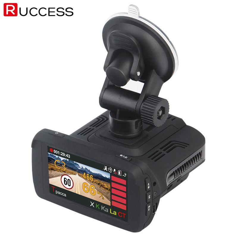 Ruccess Ambarella A7LA50 GPS Radar Auto Kamera Auto DVR Radar Detetor DVRS Speedcam HD 1296 P WDR Nachtsicht Dash Cam BlackBox