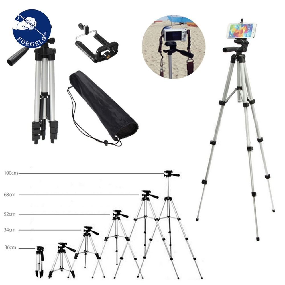 36-100 cm Universal Adjustable Tripod Stand Mount Holder <font><b>Clip</b></font> Set For Cell Phone Camera New Arrival