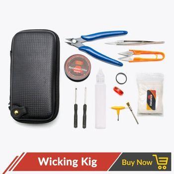 Volcanee Electronic Cigarette DIY Tool Master DIY Kit vape X6 Bag Plier A1 Heating Coil Wire Alien Clapton Coil Ceramic Tweezer