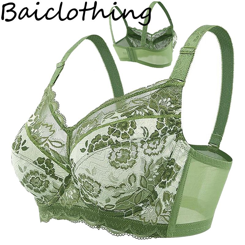 Baiclothing Drop Ship Women's Big Size Full Coverage Non-padded Underwire Unlined Thin Bra 34 36 38 40 42 44 46 48 B C D E F G H
