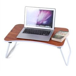 Portable Folding Bamboo Laptop Table Sofa Bed Office Laptop Stand Desk Computer Notebook Bed Table