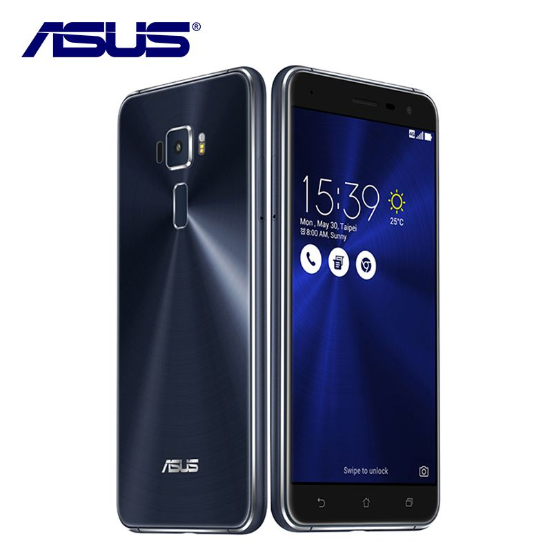 New Asus ZenFone 3 ZE552KL Mobile Phone 4GB RAM 64GB ROM Android 6.0 Qualcomm Octa Core 2.5D gorilla glass 1080P 5.5'' 16.0MP