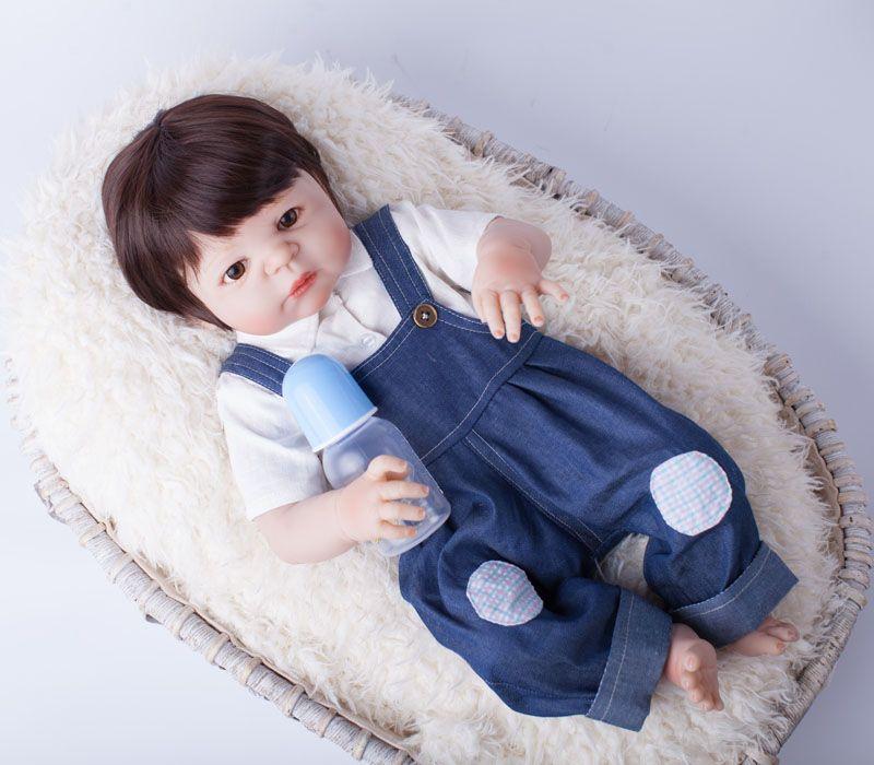 55 см полный Средства ухода за кожей силикона Reborn Baby Doll Игрушечные лошадки играть дома новорожденных Для маленьких мальчиков подарок на день...