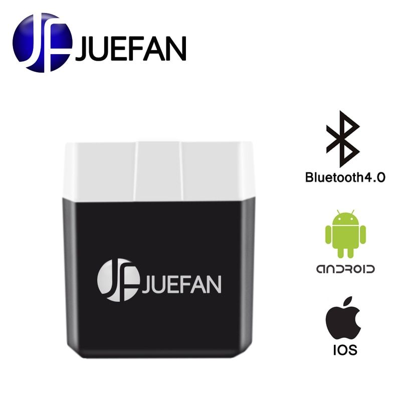 JUEFAN Low power elm327 Bluetooth 4.0 obd II Auto diagnostic tool elm 327 OBD2 car detector Scanner for Android IOS windows