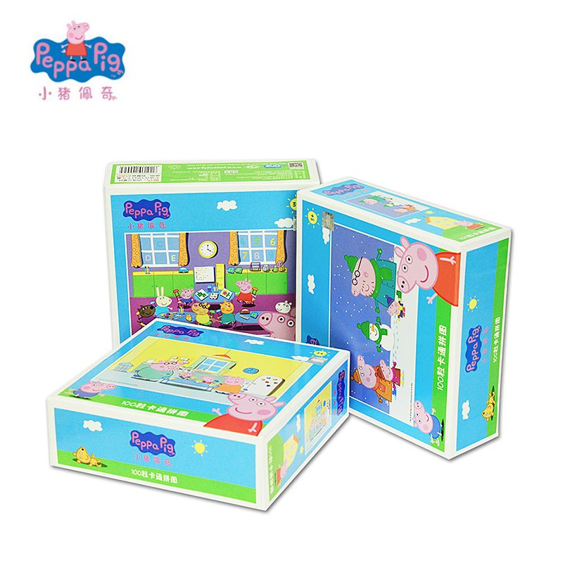 Peppa George Pig New Scene Puzzle Jigsaw Scenario Games Intelligence Educational Toy Christmas New Year 2018 Best Gift For Kids