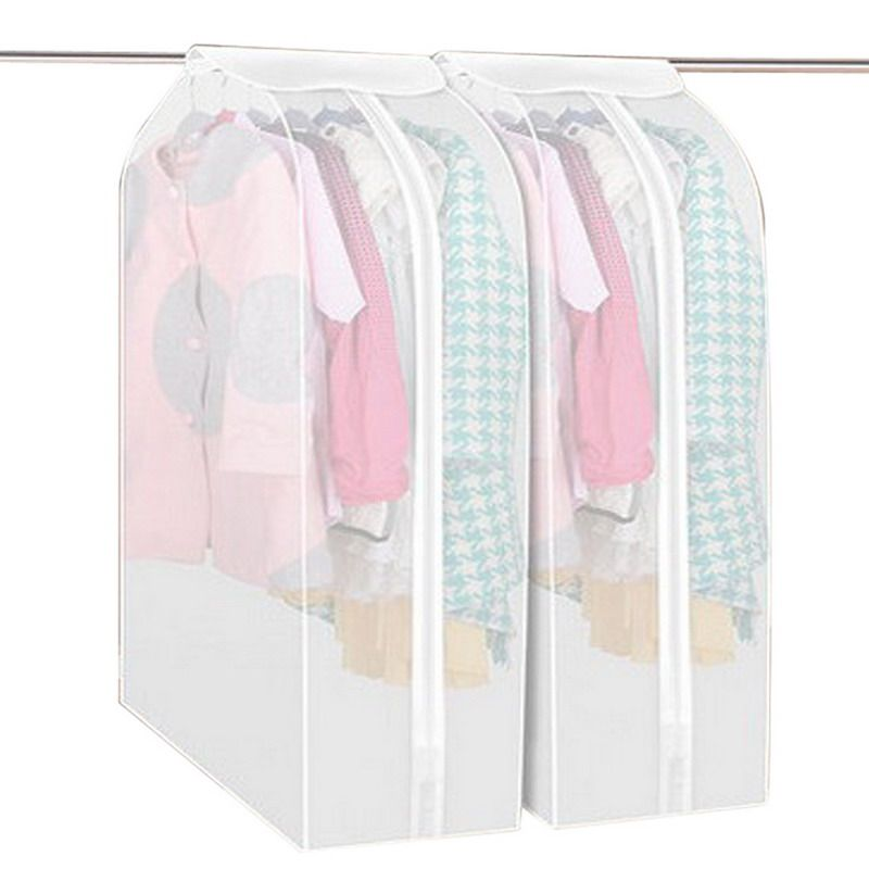 Dustproof Storage Bag Cover Garment Suit Coat Dust Cover Protector Wardrobe Storage Bag Vacuum Bags Household Clothes Organizer
