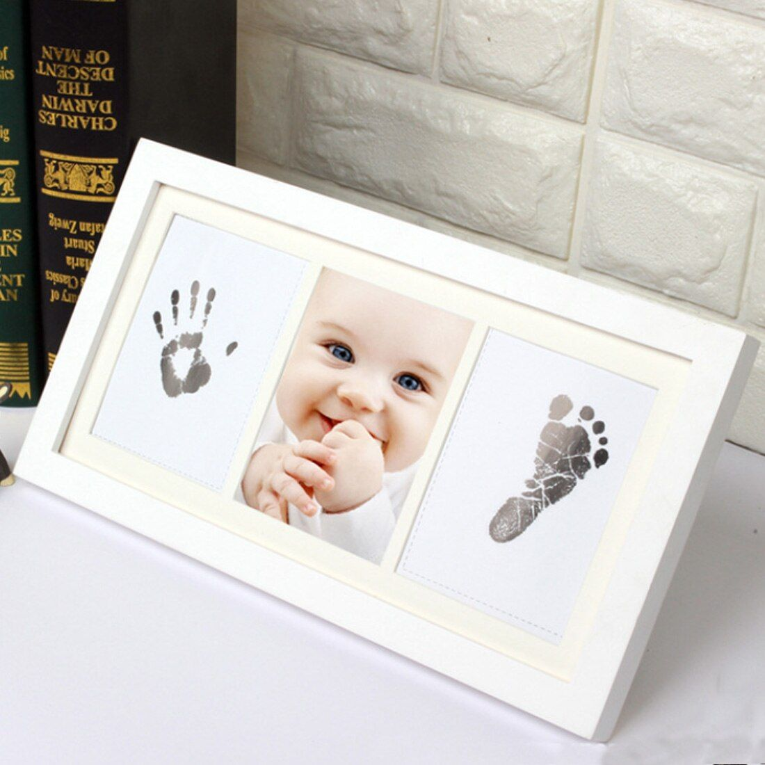 1Pcs DIY Photo Frame Newborn Baby Handprint Footprint Inkless Touch Ink Pad Girl/Boy Baby Shower Gift decoration