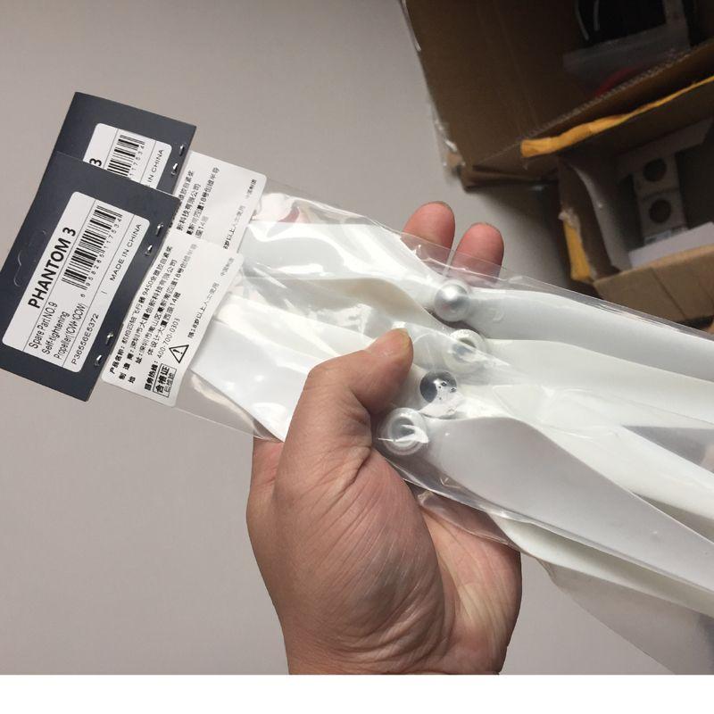2Pairs 100% Original Brand New 9450 Propeller(Full White) For Quadcopter DJI Phantom 3 SE/Pro/Adv/Sta RC Drone