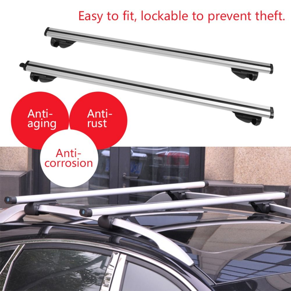 DE Durable Lockable Anti Theft Cars Auto Vehicles Roof Bars For Cars With Rails Rack Separate Luggage Rack for Car Accessories