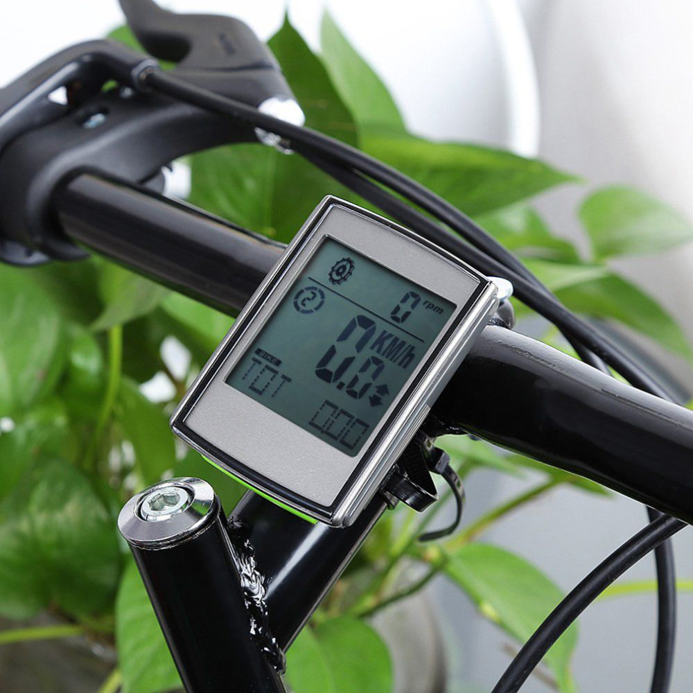 3 in 1 LCD Backlight Waterproof Wireless Bicycle Computer Set Bike Odometer Speedometer Cycling + Cadence Heart Rate Monitor