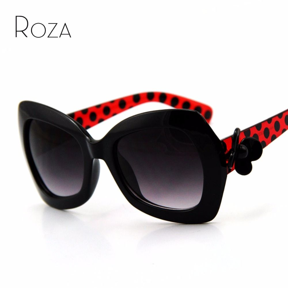 ROZA Flower Decoration Brand Design Sunglasses Women Glasses Sun Glasses Vintage 7 Colors Oculos De Sol UV400 QC0027