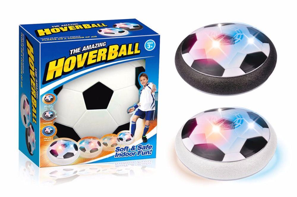 LED Luz Intermitente Juguetes De Bolas de Aire Flotando Disco Multi-superficie de Deslizamiento De Balones de Fútbol Partido de Fútbol Chico Juguete Chidren regalo T272