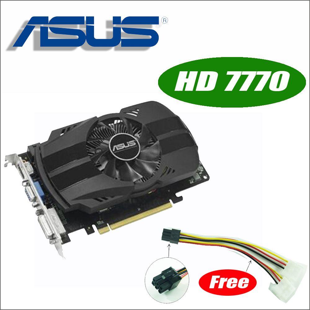 Asus HD7770-FMLII-1GD5 HD 7770 HD7770 1G D5 GDDR5 128 Bit PC Desktop Graphics video Cards PCI Express 3.0 GTX 750 Ti GTX750