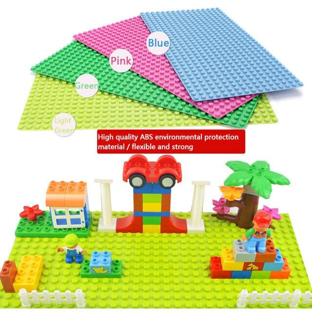 Minecrafted General Blocks Base Plate 32*16 Dots Toy Base Compatible Legos Duplo City Baseplate Building Block Toys For Children