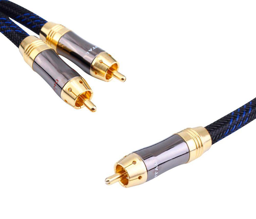 HIFI RCA Y Adapter Kabel Subwoofer Y 1x Cinch zu 2x Cinch audio kabel 1 cinch auf 2 rca kabel
