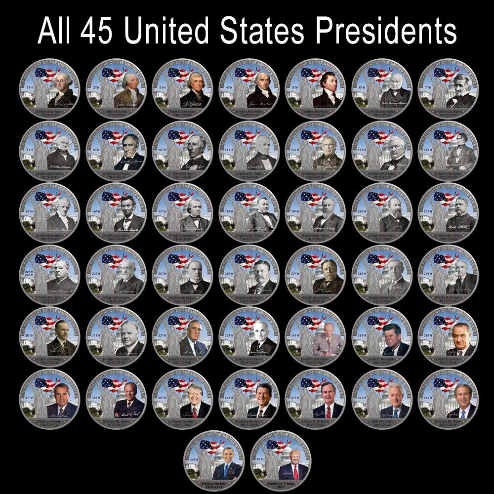 WR все 45th президент Соединенных Штатов посеребренные монету уникальные подарки американских металлических монет для Домашний декор и колле...