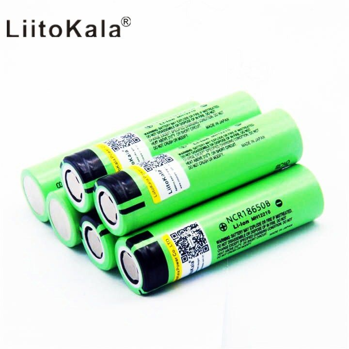 2018 10 pieces / batch LiitoKala 18650 original battery 3400 mAh 3.7 volt lithium battery for NCR18650B 3.7 volt battery flash