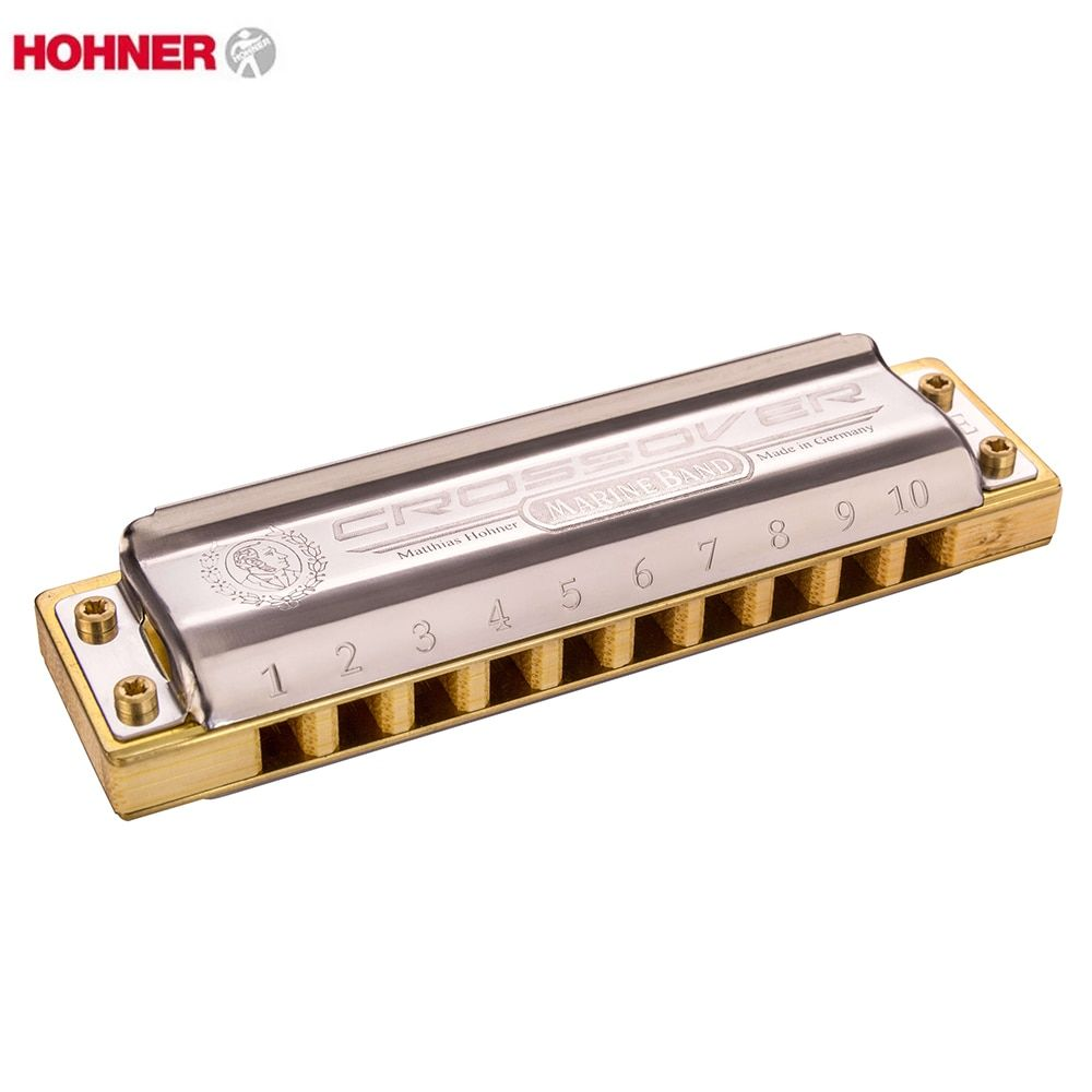 Hohner Marine Band Crossover Diatonic 10 Holes Harmonica  20 Tone Mouth Organ Instrumentos Key C Musical Instruments Bamboo Comb