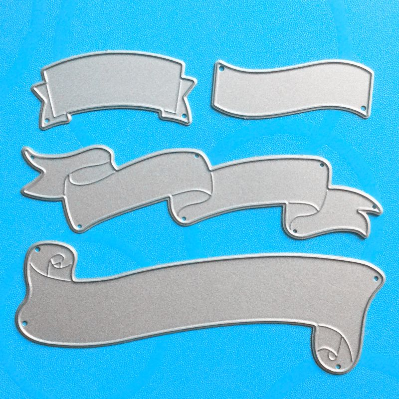 YLCD1080 Title Bar Metal Cutting Dies For Scrapbooking Stencils DIY Album Cards Decoration Embossing Folder Die Cuts Tool New