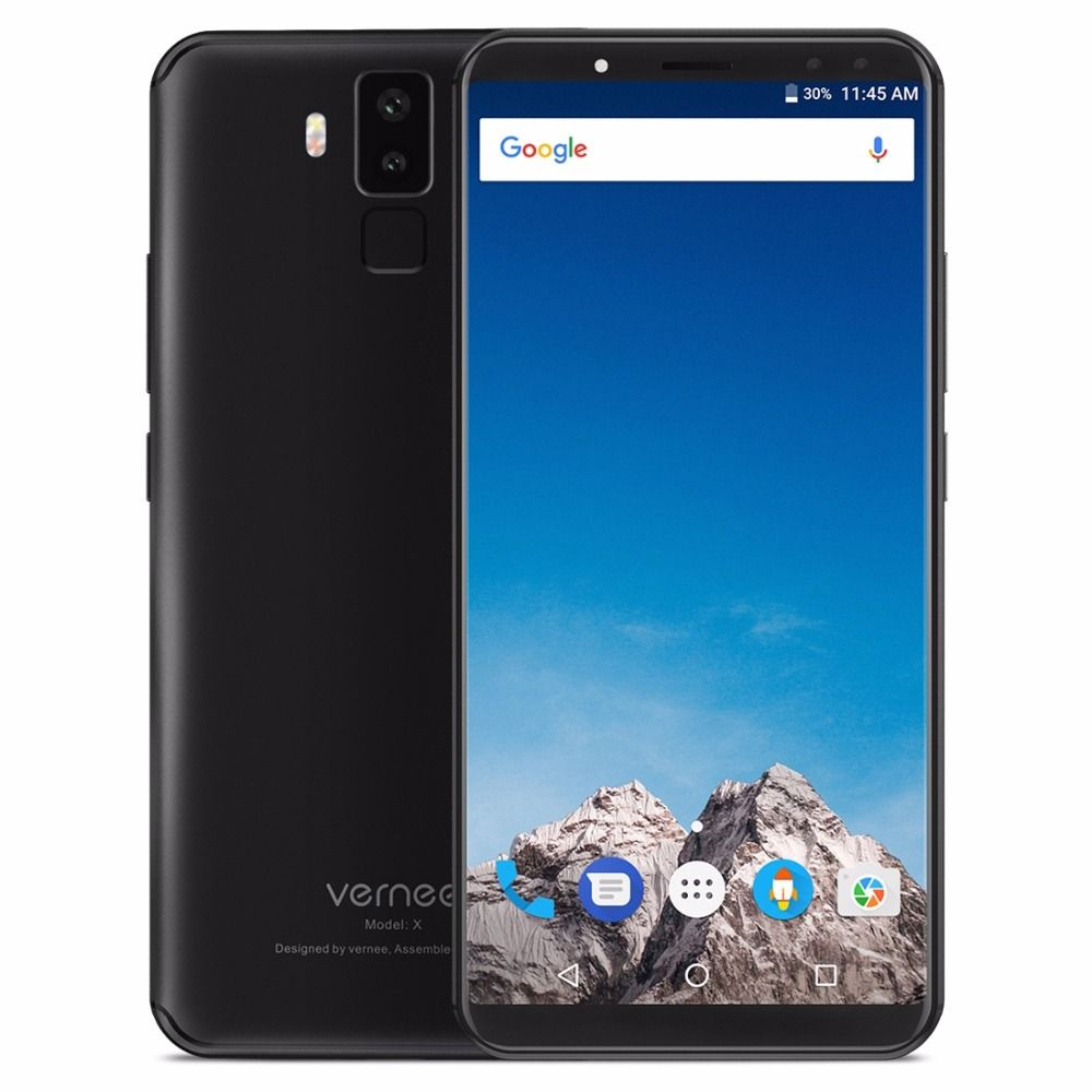Vernee X1 Android 7.1 Mobile Phone 6 inch MT6763 Octa Core 6G RAM 64G ROM 6200mAh Four Cams 9V 2A Quick Charge 4G Mobile Phone