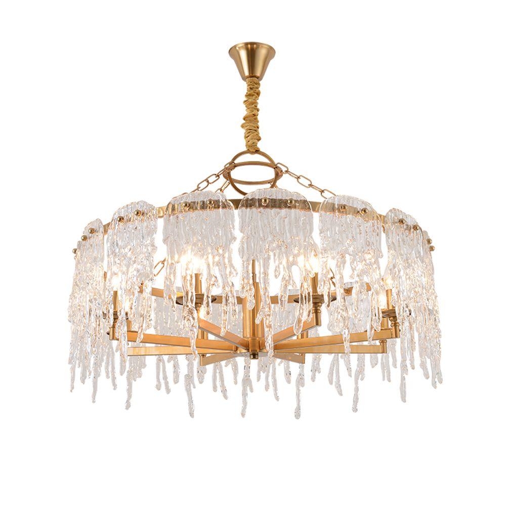 Neue design hängen kronleuchter LED licht moderne lampe AC110V 220 V gold wohnzimmer esszimmer kronleuchter beleuchtung