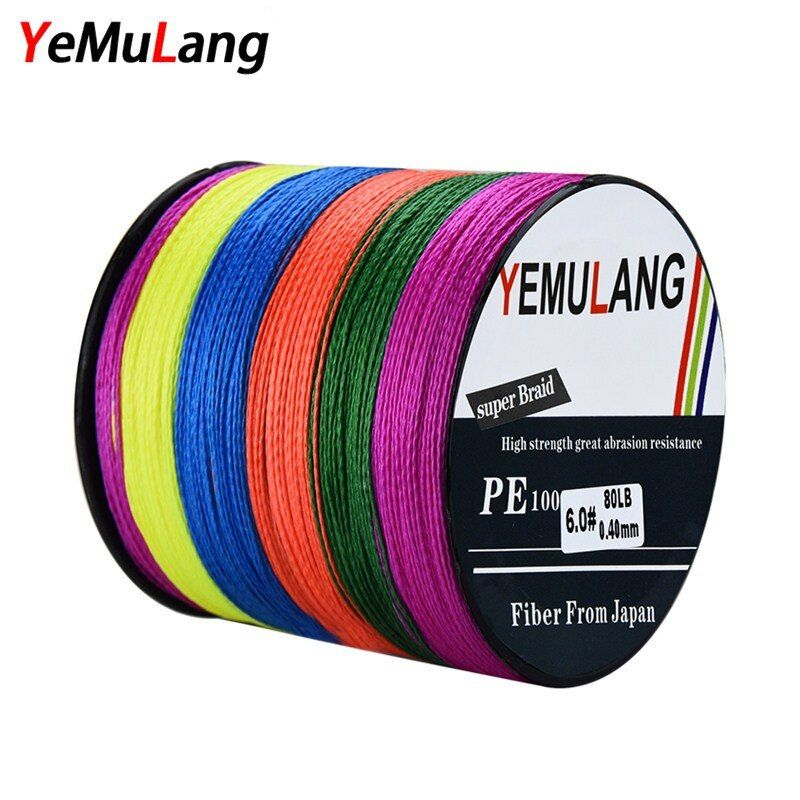 YeMuLang 300M PE Braided Fishing Lines 4 Strands Multifilament Crod Fishing Pe Line For Fishing Accessories linha para pesca