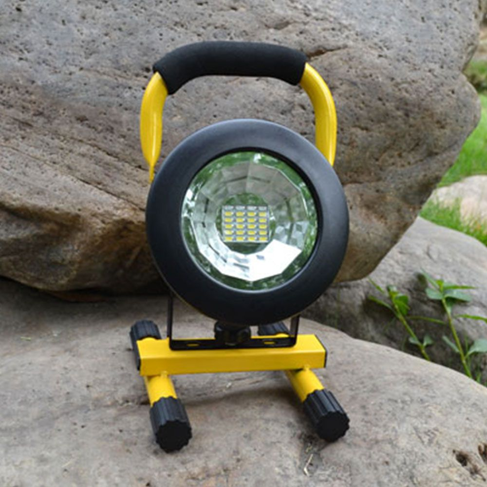 Waterproof IP65 30W LED Floodlight Rechargeable 24LED Flood Light SpotLights Red/White/Blue Light For Outdoor Camping Work Light