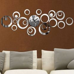 2017 New Quartz Wall Clock Europe Design Reloj De Pared Large Decorative Clocks 3d Diy Acrylic Mirror Living Room