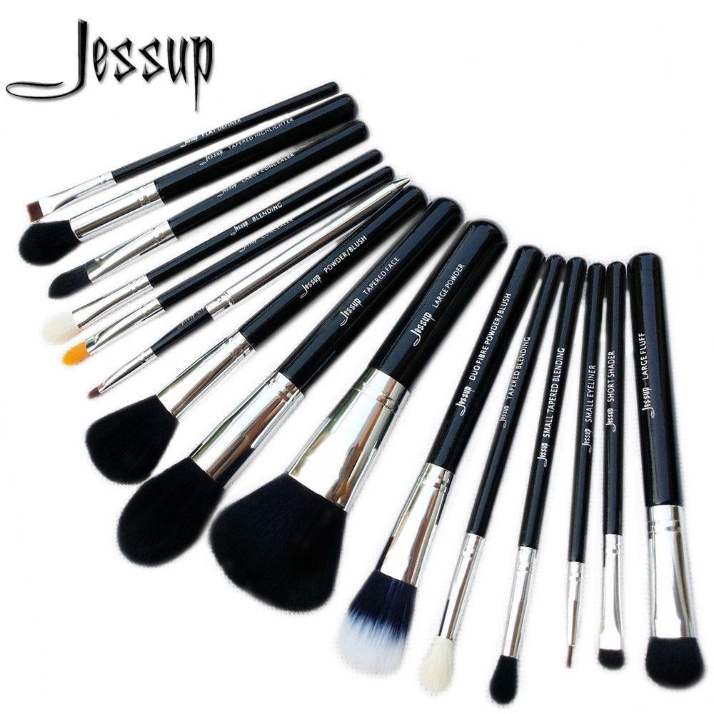 Jessup Brushes 15pcs Makeup Brushes Set Cosmetics Brushes Eyeshadow Concealer Eyeliner Lip Brush Tool T092