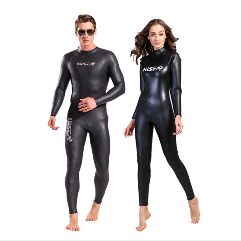 3mm Thermal Neoprene Wet Suits Men's Women's Long Sleeve Sknorking Scuba Diving Wet Suits Back Zipper One-piece Swimwear Wetsuit