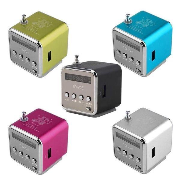 Mini Radio numérique Portable Fm Mini Radio Fm haut-parleur de Radio USB lecteur de carte SD pour téléphone Portable Pc lecteur de musique Radv26