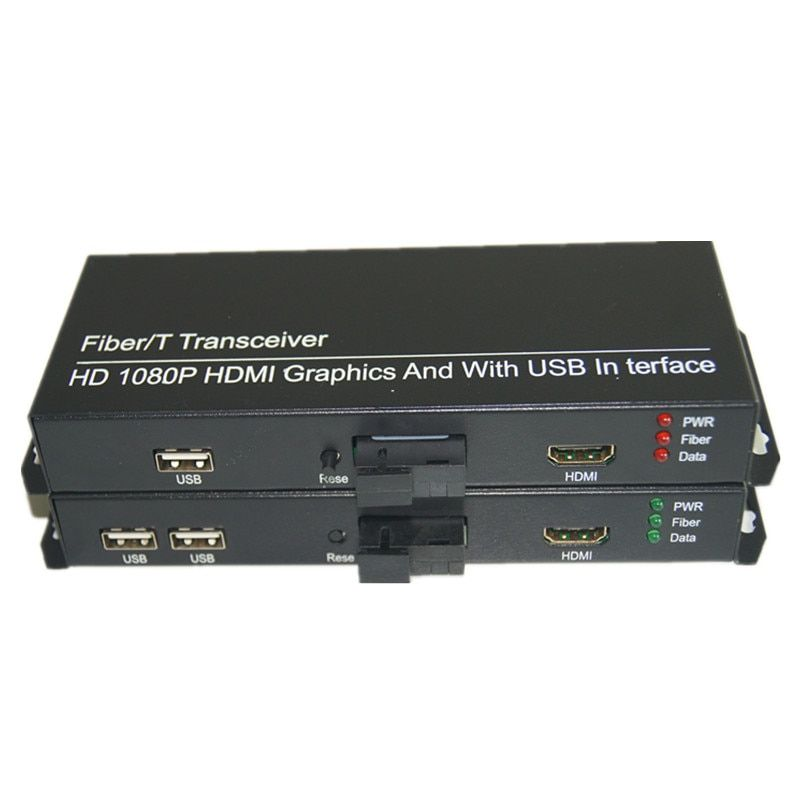 High Quality HD 1080P HDMI Extender Optical Media Converters with 2 KVM USB2.0, HDMI signal over Fiber SC port ,Singlemode 20Km