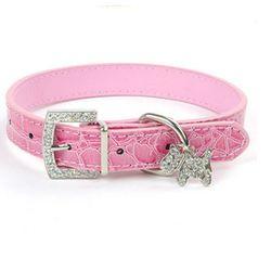 1 piezas cristal colgante Collar de perro de mascota gato mascota hebilla perros lleva correa de cuello Animal accesorios para mascotas perro y arneses