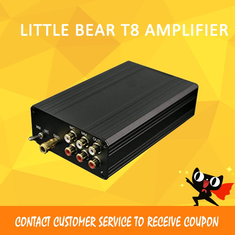 Little Bear T8 AMP Turntable MM MC Phono RIAA preamplifier Hifi Stereo Pre-AMP Phono Sound Amplifier for speakers HOT