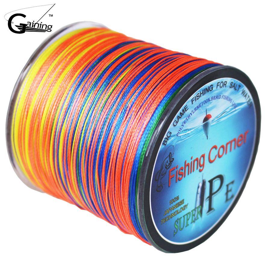 Trenzado Pesca línea 8 strands 500 m multicolor energía estupenda Japón multifilamento PE trenzado línea 10lb 20lb 30lb 40lb 100lb 200lb