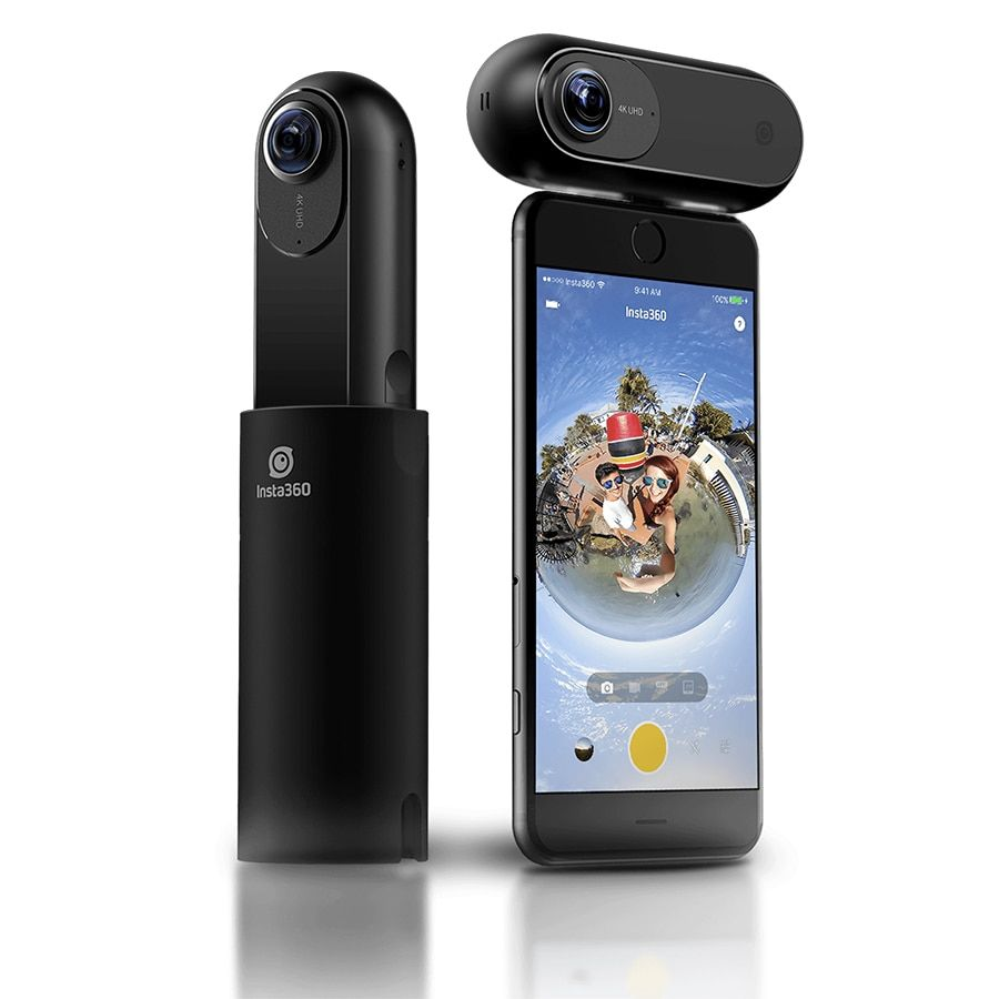 2017 Insta360 UN 4 K 360 Panoramique Caméra VR Vidéo Sport Camera Action 24MP Bullet Time 6-Axis Gyroscope Retransmission Sur Le Web pour iPhone Cam