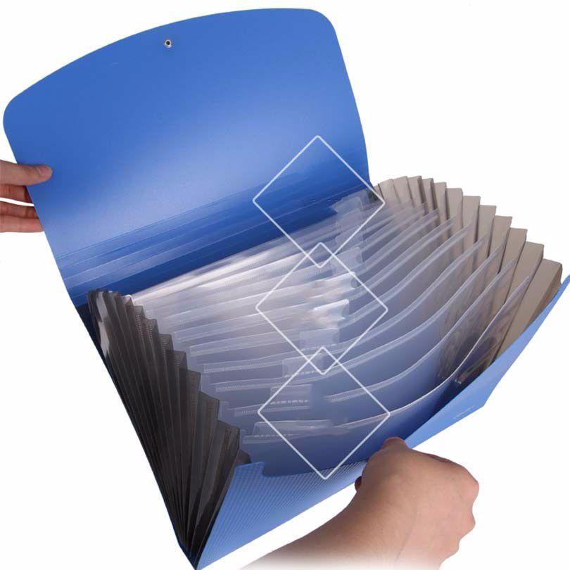 Deli Business-stil Erweiterung Wallet 13 fall A4-format-datei ordner Bill dokumentenmappe für A4 papiere Ordner für dokumente halter