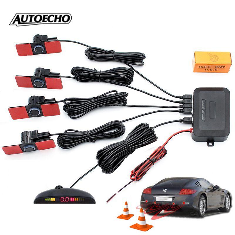 6 colors Auto parktronic 4 Car parking sensor system detector radar monitor LED display reverse backup Parking Assistance 16mm