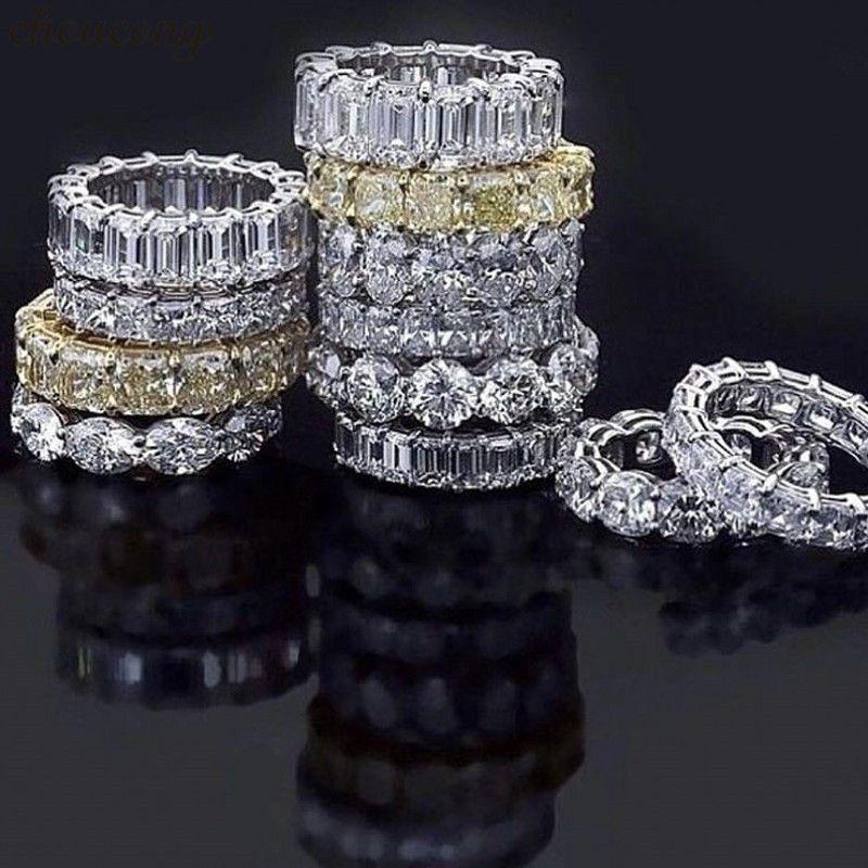 Choucong 18 Styles éternité promesse anneau AAAAA Cz 925 en argent Sterling déclaration de mariage anneaux pour femmes hommes bijoux cadeau