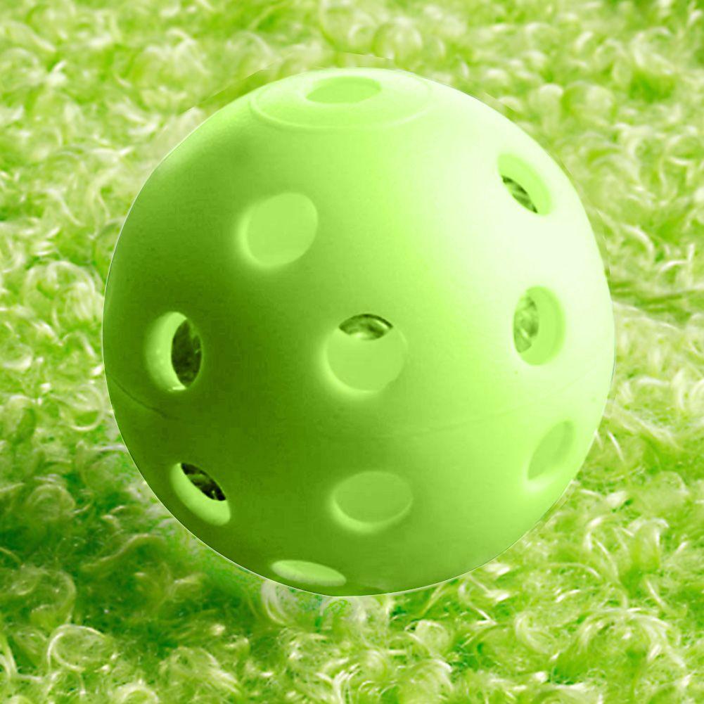 50 Teile/satz Golf Praxis Kunststoffkugeln Whiffle Luftstrom Hohl Outdoor Golf Trainingsbälle Golf Zubehör Grün/Weiß
