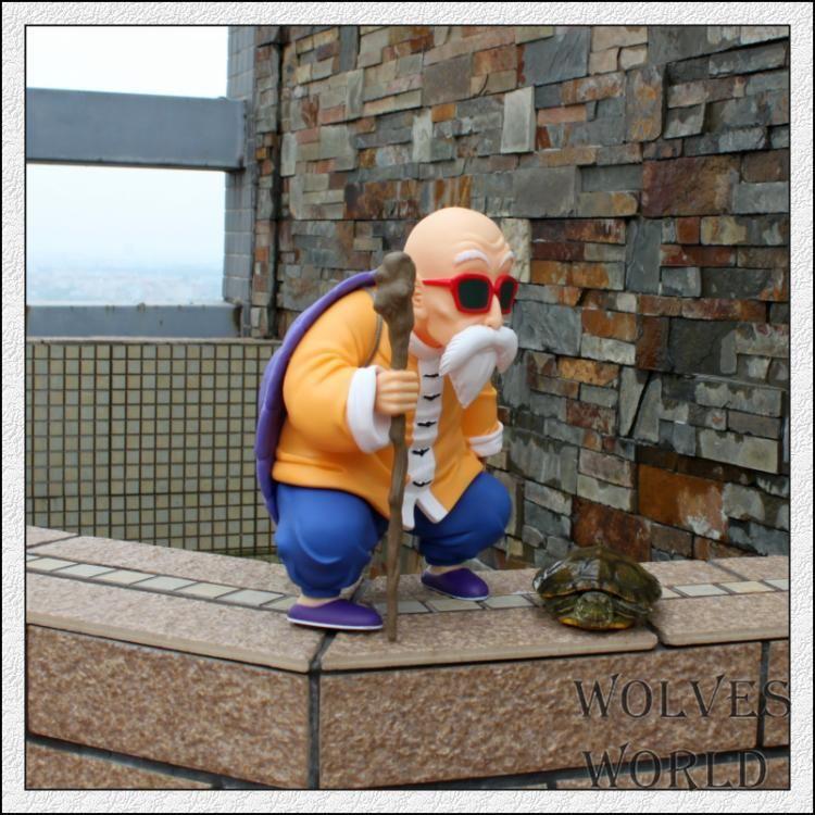 2 шт./компл. Высокое Качество Dragon Ball Фигурку 25 см Каме Sennin 23 см Детства Сон Гоку Модель