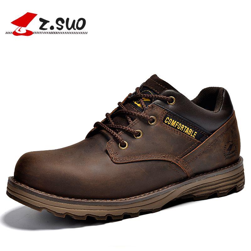 Пояса из натуральной кожи повседневная обувь Для мужчин модные Кружево-Up Обувь из коровьей кожи Удобная md + Резина подошвы рабочие Мужская о...