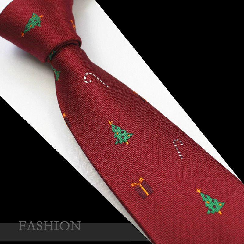 RBOCOTT красный Рождественский галстук 7 см Снеговик галстуки на Рождество День мужской синий и зеленый Рождественская елка галстук Санта-Клау...